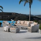 Castelli 8 Piece Rattan Sofa Seating Group with Cushions Fabric: Maxim Beige