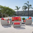 Castelli 6 Piece Sofa Set with Cushions Fabric: Sunset Red