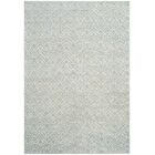 Adel Lake Hand-Knotted Seafoam/Ivory Area Rug Rug Size: Rectangle 8' x 10'