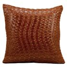 Tiefort Leather Throw Pillow Color: Cognac