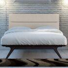 Nashua Upholstered Platform Bed Color: Black Beige, Size: King