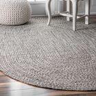 Kulpmont Gray Indoor/Outdoor Area Rug Rug Size: Oval 4' x 6'
