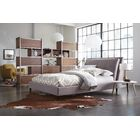 Rodger Upholstered Panel Bed Size: King, Color: Light Gray
