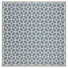 Cosper Blue/Cream Area Rug Rug Size: Square 6'7