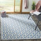 Cosper Blue/Cream Area Rug Rug Size: Rectangle 5'1