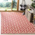 Didmarton Red/Creme Area Rug Rug Size: Rectangle 8' x 10'