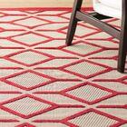 Taschen Red Indoor/Outdoor Area Rug Rug Size: Rectangle 7'10