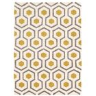 Bouley Hand-Tufted Beige/Gray/Yellow Area Rug Rug Size: Rectangle 5' x 7'