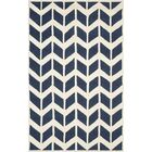 Esperance Navy / Ivory Area Rug Rug Size: Rectangle 5' x 8'