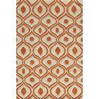 Perkins Hand-Tufted Orange Area Rug Rug Size: Rectangle 5' x 7'6
