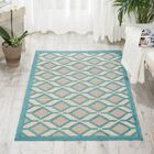 Blane Hand-Woven Blue Area Rug Rug Size: Rectangle 7'10