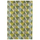Dresden Hand Tufted Green/Brown Area Rug Rug Size: Rectangle 9'6