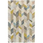 Christine Hand-Tufted Gray/Gold Area Rug Rug Size: Rectangle 9'6