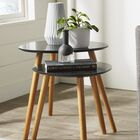 Phoebe 2 Piece Nesting Tables Color: Black