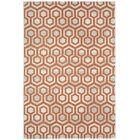 Malle Cinnamon Orange Honeycombs Indoor/Outdoor Area Rug Rug Size: Rectangle 3'11