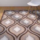 Candor Light Brown/Dark Brown Area Rug Rug Size: Rectangle 8' x 11'2