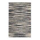 Zareen in Ivory/Black Area Rug Rug Size: 4' x 6'