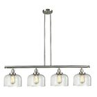 Chaplin Glass Bell 4-Light Kitchen Island Pendant Shade Color: Clear, Size: 48