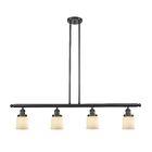 Chaplin Glass Bell 4-Light Kitchen Island Pendant Shade Color: Matte White Cased, Size: 48