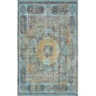 Lonerock Blue/Yellow Area Rug Rug Size: Rectangle 5'5