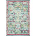 Lonerock Turquoise/Pink Area Rug Rug Size: Rectangle 5'5