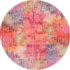 Piotrowski Cotton Candy Area Rug Rug Size: Round 8'