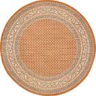 Gillam Orange Area Rug Rug Size: Round 8'