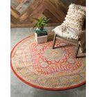 Laurelwood Light Red Area Rug Rug Size: Round 6'