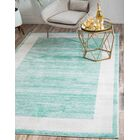Uptown Yorkville Turquoise Area Rug Rug Size: Rectangle 8' x 10'