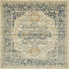 Jae Distressed Beige Area Rug Rug Size: Square 6'