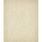 Neilson Hand-Braided White Area Rug Rug Size: Rectangle 8' x 10'