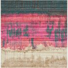 Coakley Traditional Pink Area Rug Rug Size: Square 8'