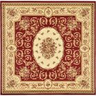Oskar Red Area Rug Rug Size: Square 8'