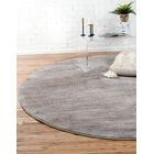 Uptown Madison Avenue Gray Area Rug Rug Size: Round 8'