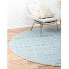 Uptown Park Avenue Blue Area Rug Rug Size: Round 8'