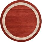 Christi Red/Beige Area Rug Rug Size: Round 6'