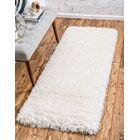 White Area Rug Rug Size: Runner 2' x 6'