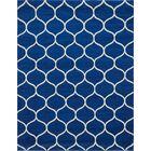 Easter Compton Trellis Blue Area Rug Rug Size: Rectangle 8' x 10'