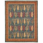 Foret Noire Blue Area Rug Rug Size: Rectangle 8' x 10'