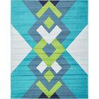 Sidney Turquoise Area Rug Rug Size: Rectangle 8' x 10'