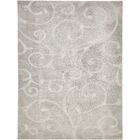 Avondale Floral Gray Area Rug Rug Size: Rectangle 9' x 12'