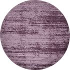 Beverly Purple Area Rug Rug Size: Round 6'