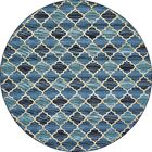 Alice Blue Indoor/ Outdoor Area Rug Rug Size: Round 8'
