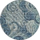 Ivy Light Blue Indoor/ Outdoor Area Rug Rug Size: Round 8'