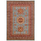 Valley Red/Light Blue Area Rug Rug Size: Rectangle 7' x 10'
