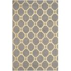Dresden Hand-Loomed Grey/Gold Area Rug Rug Size: Rectangle 5' x 8'