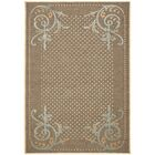 Scrollwork Hand-Loomed Brown Area Rug Rug Size: Rectangle 4' x 5'7