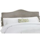 Anis Slipcover Upholstered Panel Headboard Upholstery: Regal Smoke, Size: California King