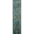 Melia Blue/Beige Area Rug Rug Size: Runner 2' x 12'