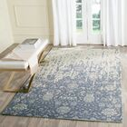 Ellicottville Hand-Tufted Ivory/Blue Area Rug Rug Size: Rectangle 3' x 5'